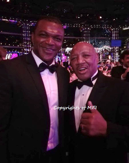 Marvelous with French Former Soccer Champion Marcel Desailly