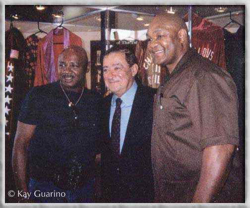 The Marvelous One with promoter Bob Arum,<br />