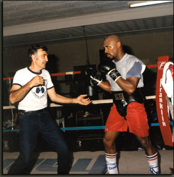 Marvin Hagler training photos