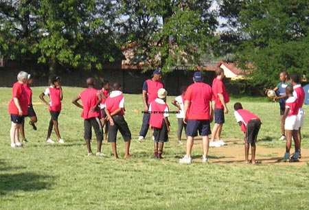 Marvelous enjoying a touch rugby game. Part of a school project in