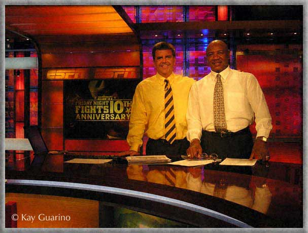 Marvelous Marvin Hagler boxing analyst in the Studio with Friday Night Fights anchor Brian Kenny,<br /> 20 June 2008